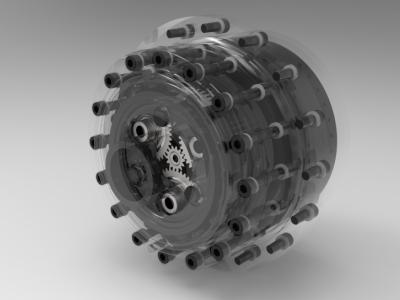 100kW级一体化轮毂驱动系统
