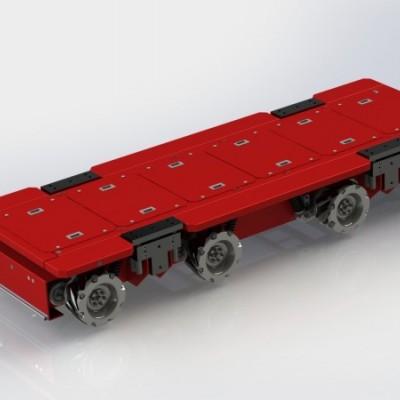 负载10吨麦克纳姆轮AGV-自然导航